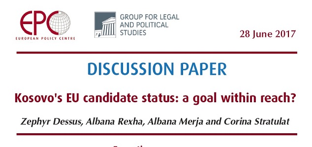 A new EPC and GLPS Discussion Paper released 'Kosovo's EU candidate status: a goal within reach?'